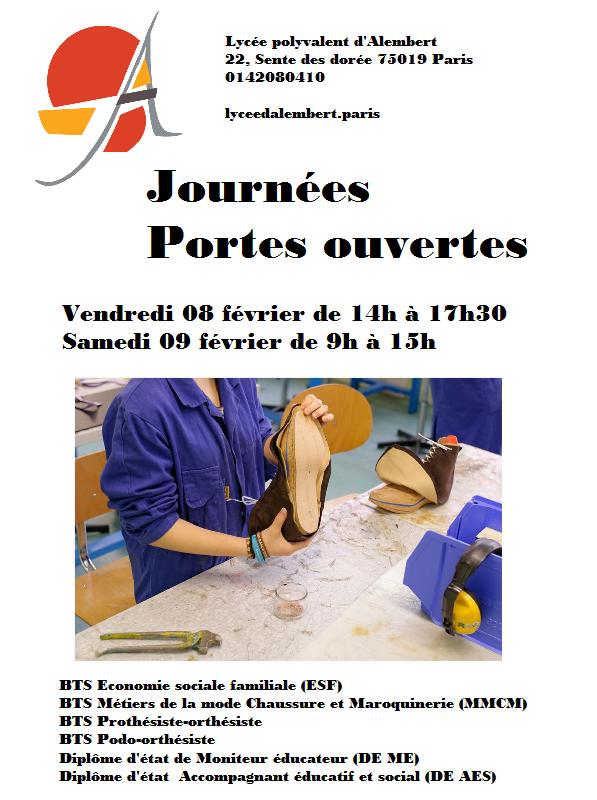 journées portes ouvertes 2019 Lycée d'Alembert Paris