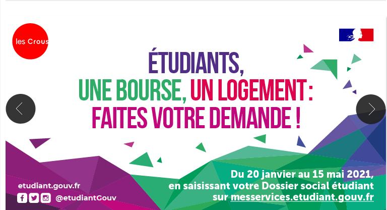 CAMPAGNE DE BOURSES ETUDIANTES DU 20 JANVIER AU 31 MAI 2021